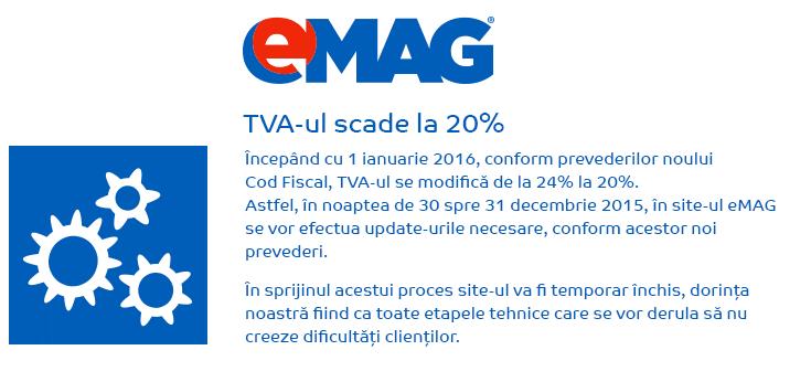 Reducere de TVA la eMAG 2016