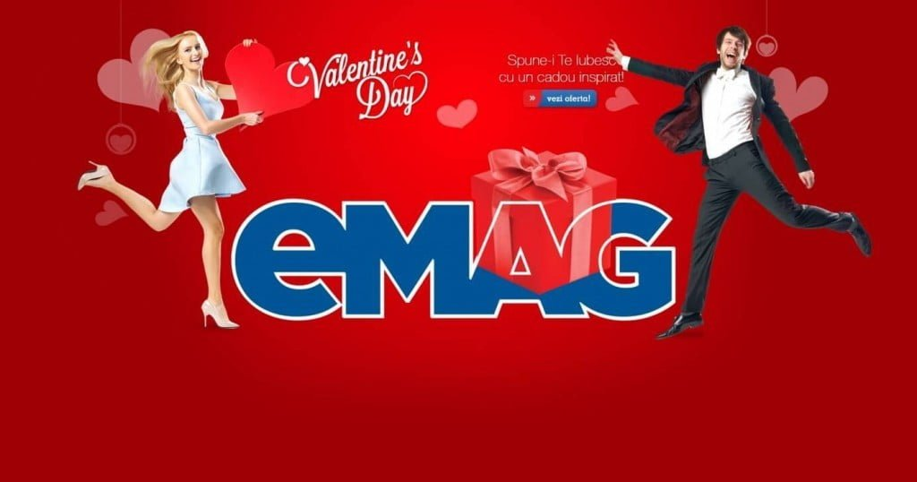 Promotii si reduceri eMAG Valentine's Day 2017