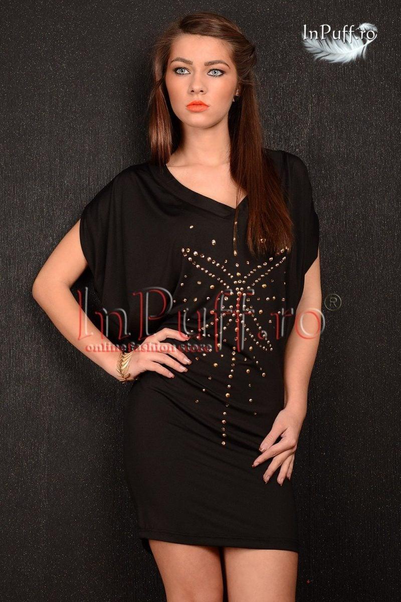 Bluza neagra tip rochita
