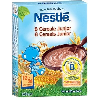 Cereale Nestle - 8 cereale Junior 250g
