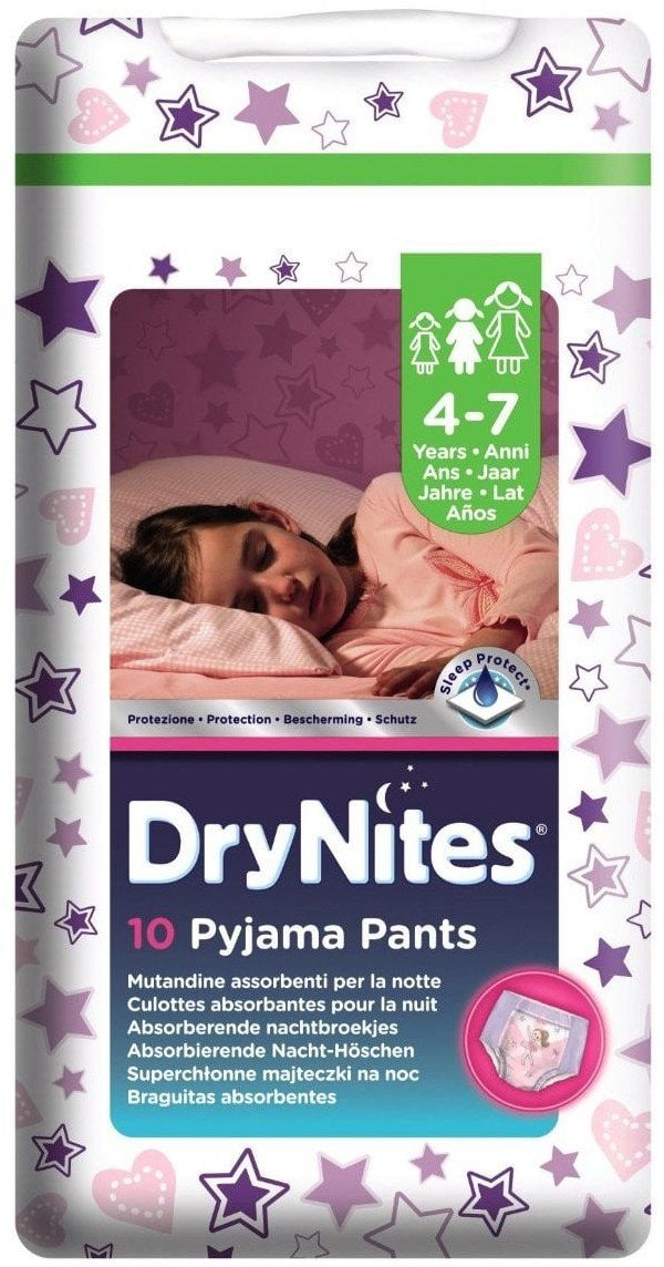 HUGGIES DRYNITES MEDIUM GIRL 4-7 ANI (17-30KG)-CHILOTEI DE NOAPTE