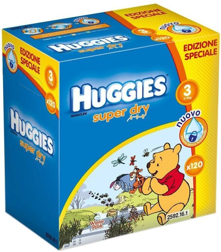 HUGGIES DYSNEY BOX 3 (120) 4-9KG