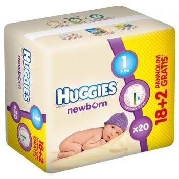 HUGGIES NEW BORN 1 (18+2) 2-5 KG