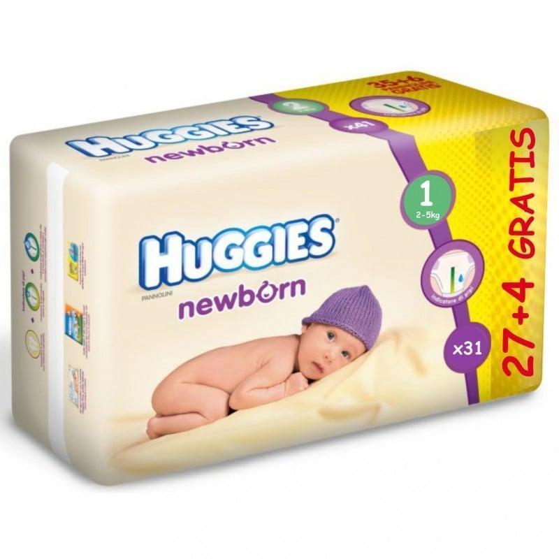 HUGGIES NEW BORN 1 (27+4) 2-5 KG