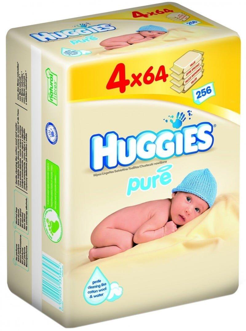 HUGGIES PURE QUATRO - SERVETELE UMEDE COPII 56X4