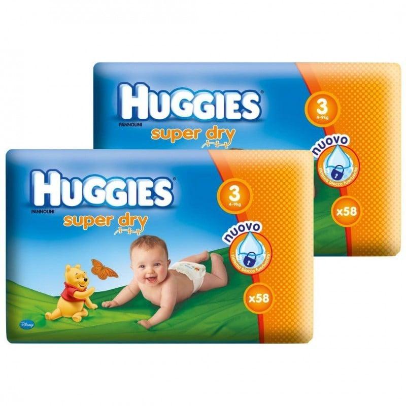 HUGGIES SUPER DRY 3 (116) 4-9 KG