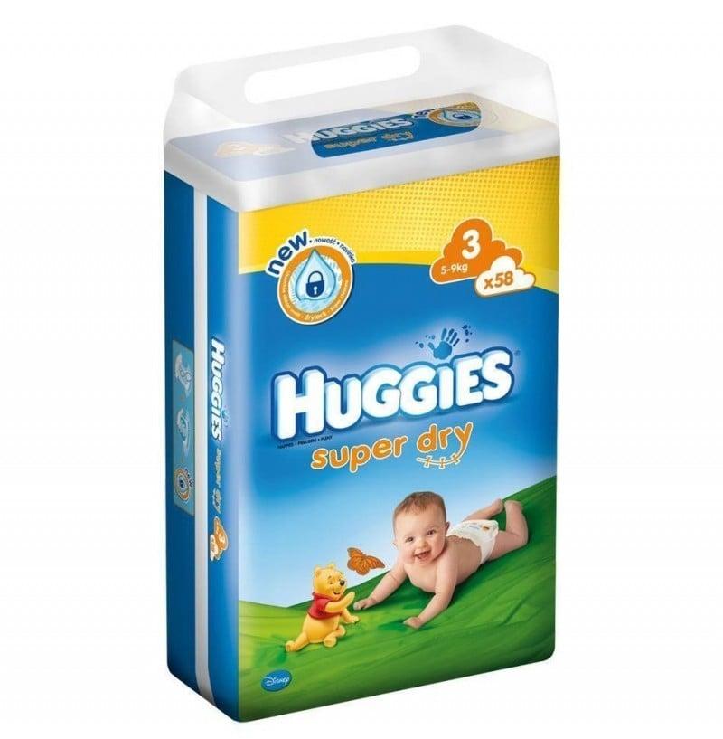HUGGIES SUPER DRY 3 (58) 4-9 KG