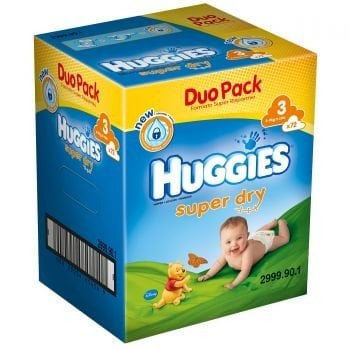 HUGGIES SUPER DRY 3 (72) DUO PACK 4-9 KG