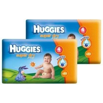 HUGGIES SUPER DRY 4 (104) 7-14 KG