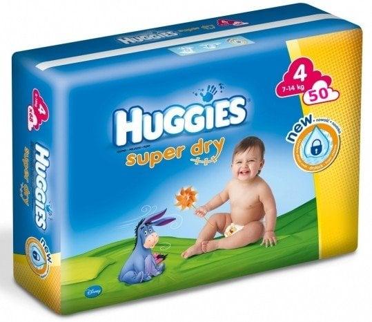 HUGGIES SUPER DRY 4 (50) 7-14 KG
