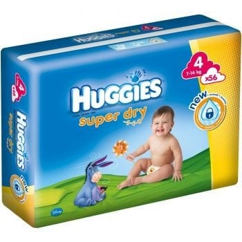 HUGGIES SUPER DRY 4 (56) 7-14 KG