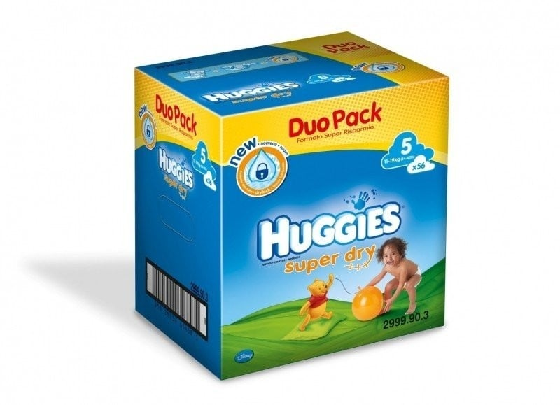 HUGGIES SUPER DRY 5 (56) DUO PACK 11-19 KG