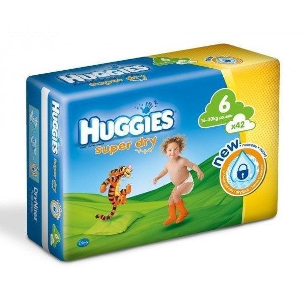 HUGGIES SUPER DRY 6 (42)16-30 KG