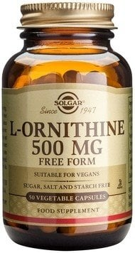 L-ORNITHINE 500mg veg.caps 50s SOLGAR