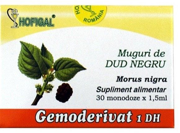 MUGURI DE DUD NEGRU 30 MONODOZE GEMODERIVAT