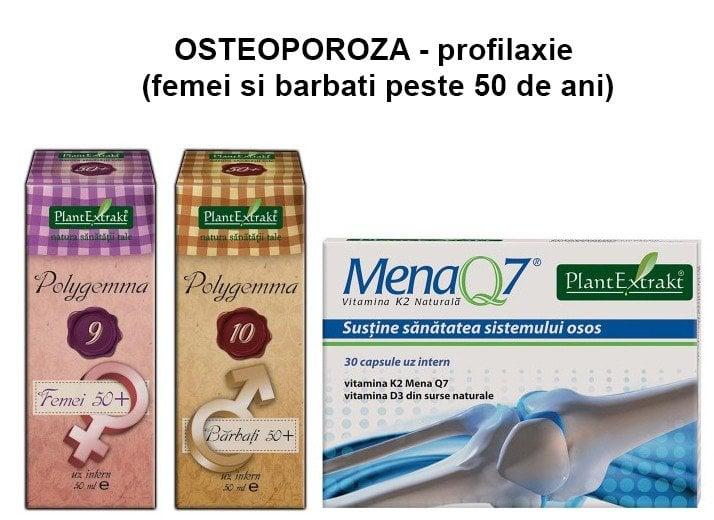 PACHET PLANTEXTRAKT PENTRU OSTEOPOROZA - profilaxie (femei si barbati peste 50 ani)