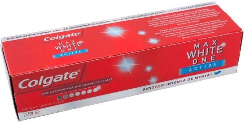 PASTA DE DINTI COLGATE MAX WHITE ONE ACTIVE 75 ML
