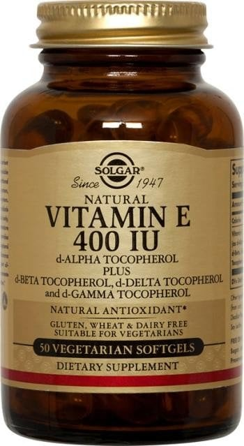 Vitamin E 400 IU softgels 50s SOLGAR