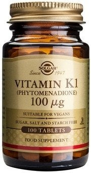 Vitamin K1 100mcg tabs 100s SOLGAR