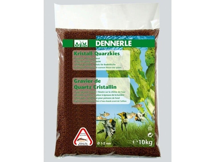 Nisip Dennerle Crystal Quartz Gravel Dark Brown