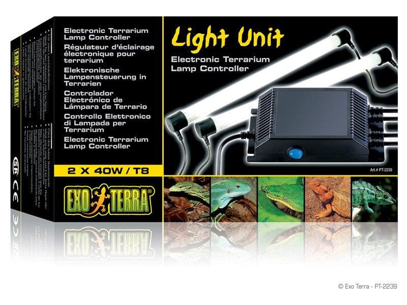 Lampa Exo Terra Light Unit dubla (2x20W), 61 cm