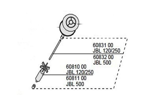Rotor Axa si Garnituri JBL CristalProfi CP250