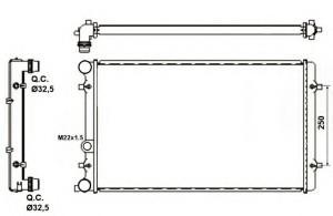 Radiator racire motor NRF 509529A