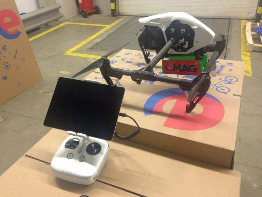 Livrare eMAg cu drona de Black Friday