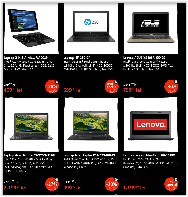 Reduceri Laptop Black Friday 2016