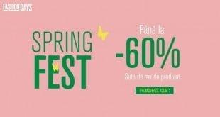Reduceri si promotii Fashion Days Spring Fest Martie 2017