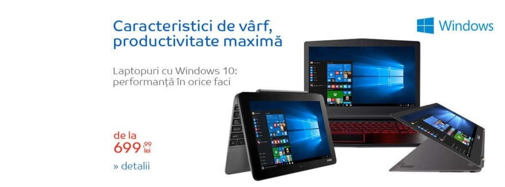 Oferta laptop Windows 10 eMAG