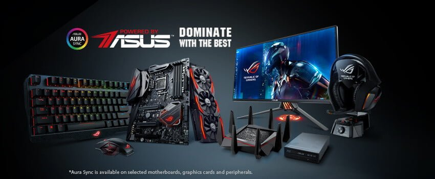 Desktop gaming Powered by Asus