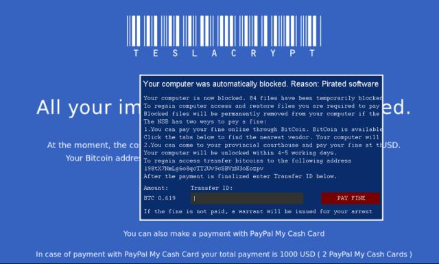 Virus criptare fisiere