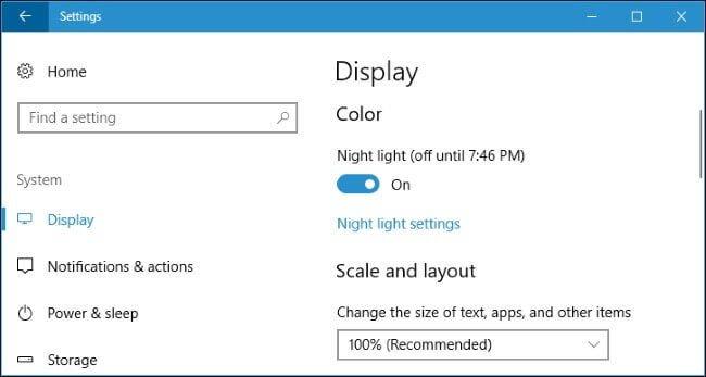 Cum activez modul de noapte Windows 10
