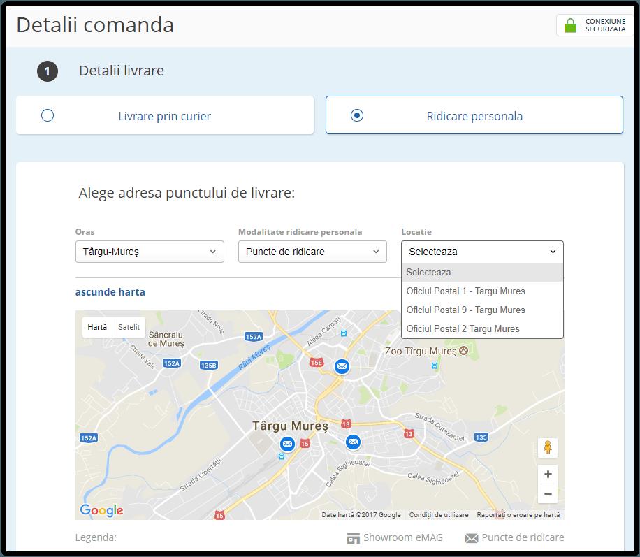 Comanda eMAG cu livrare gratuita in Tg. Mures