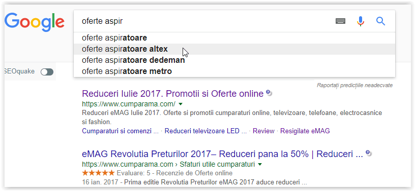 Noul Google Instant Search