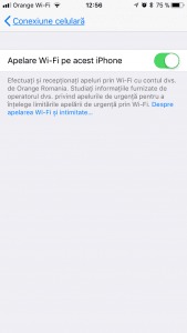 Activare Apel Wi-Fi Orange
