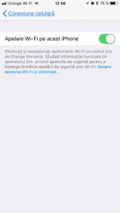 Activare Apel Wi-Fi Orange