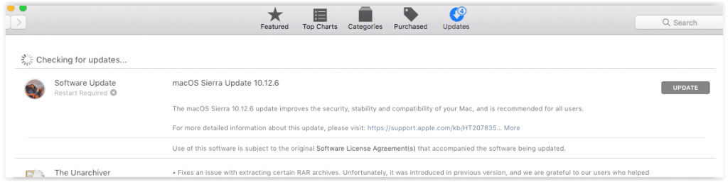 MacOS Sierra Update septembrie