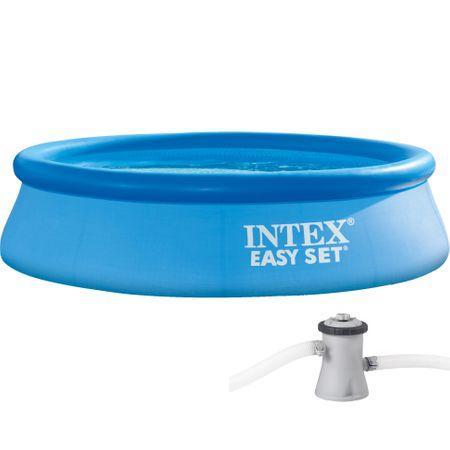piscina intex gonflabila curte